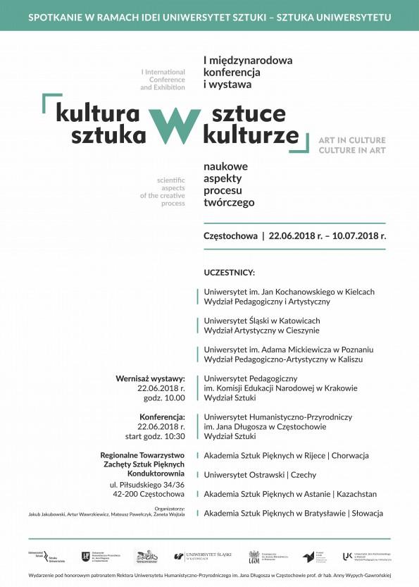 Sztuka w Kulturze Kultura w Sztuce PLAKAT 50x70 cm