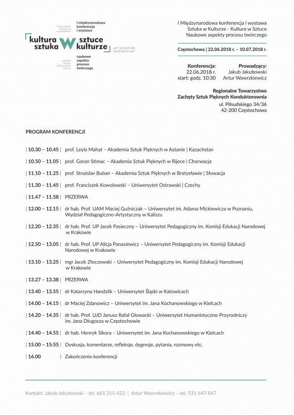 Sztuka w Kulturze Kultura w Sztuce program konferencji a4 (1)